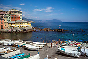 The seafront at Boccadasse near Genoa, ItalyThe seafront at Boccadasse near Genoa, Italy. Boccadasse is a fishing village that has, despite its proximity to Genoa, managed to retain its charm and is very popular as a dining and swimming destination with Italian tourists.