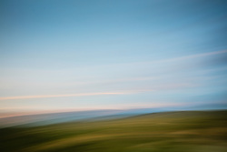 Abstract landscape of Tesuque Mountain range in Santa Fe, NM