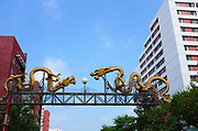 Twin Dragon Gateway To Los Angeles Chinatown