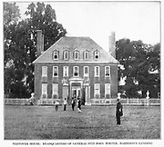 WESTOVER HOUSE: HEADQUARTERS OP GENERAL FITZ JOHN PORTER, HARRISON S LANDING from the book ' The Civil war through the camera ' hundreds of vivid photographs actually taken in Civil war times, sixteen reproductions in color of famous war paintings. The new text history by Henry W. Elson. A. complete illustrated history of the Civil war