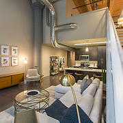 Roaster's Block interior unit, Swofford Building, renovation of Folger's Coffee plant to residential use; Kansas City, Missouri. O'Reilly Development of Springfield, Missouri.