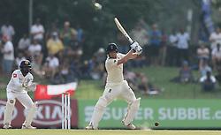 November 23, 2018 - Colombo, Sri Lanka - England cricketer Jonny Bairstaw (2L) plays a shot  on during the 1st day's play in the 3rd and final test cricket match between England and Sri Lanka at SSC international cricket stadium, Colombo, Sri Lanka. 11-23-2018  (Credit Image: © Tharaka Basnayaka/NurPhoto via ZUMA Press)