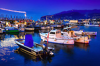 """Fishing boats resting on blue glass water - Sorrento Marina Grande""…<br />
