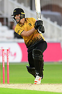 Will Davis of Leicestershire during the Vitality T20 Blast North Group match between Nottinghamshire County Cricket Club and Leicestershire County Cricket Club at Trent Bridge, Nottingham, United Kingdom on 4 September 2020.