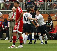 Photo: Chris Ratcliffe.<br /> England v Trinidad & Tobago. Group B, FIFA World Cup 2006. 15/06/2006.<br /> Wayne Rooney finjally comes on.