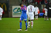 Deception Emmanuel IMOROU - 05.12.2014 - Caen / Nice - 17eme journee de Ligue 1 -<br />Photo : Dave Winter / Icon Sport