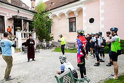 Riders at Castle Fala  during 4th Stage from Prevalje to Dobrovnik, 190 km at Day 4 of DOS 2021 Charity event - Dobrodelno okrog Slovenije, on April 30, 2021, in Slovenia. Photo by Vid Ponikvar / Sportida