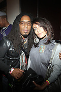 l to r: Sharief in Burgundy and Sana at The ROOTS Present the Jam produced by Jill Newman Productions held at Highline Ballroom on April 29, 2009 in New York City