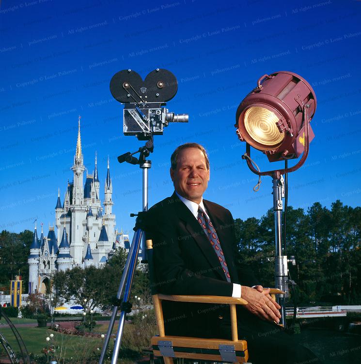 Michael Eisner, CEO of the Walt Disney Company at Walt Disney World in Orlando, Florida.