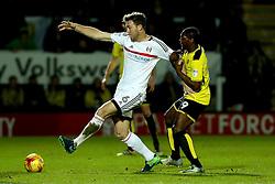 Kevin McDonald of Fulham battles with Marvin Sordell of Burton Albion - Mandatory by-line: Robbie Stephenson/JMP - 01/02/2017 - FOOTBALL - Pirelli Stadium - Burton Upon Trent, England - Burton Albion v Fulham - Sky Bet Championship