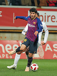 October 31, 2018 - Leon, Leon, Spain - Alena of Barcelona in action during the King Spanish championship, , football match between Cultural Leonesa and Barcelona, October 31, in Reino de Leon Stadium in Leon, Spain. (Credit Image: © AFP7 via ZUMA Wire)