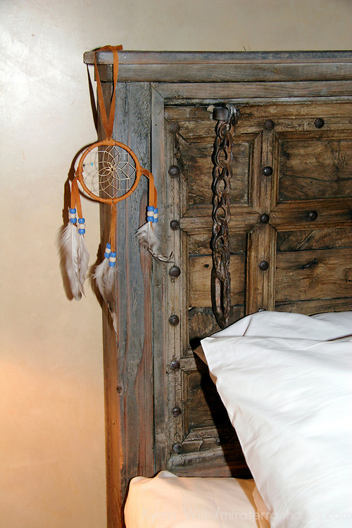 North America, USA, New Mexico, Santa Fe. Bedside Dreamcatcher