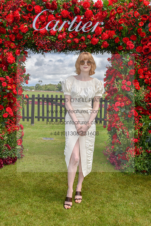Emily Beecham at the Cartier Queen's Cup Polo 2019 held at Guards Polo Club, Windsor, Berkshire. UK 16 June 2019 - <br /> <br /> Photo by Dominic O'Neill/Desmond O'Neill Features Ltd.  +44(0)7092 235465  www.donfeatures.com