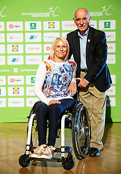 Mateja Pintar Pustovrh and Matija Krnc during Closing ceremony at Day 4 of 16th Slovenia Open - Thermana Lasko 2019 Table Tennis for the Disabled, on May 11, 2019, in Thermana Lasko, Lasko, Slovenia. Photo by Vid Ponikvar / Sportida