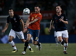 September 11, 2018 - Alicante, Alicante, Spain - Saul Niguez (C) of Spain competes for the ball with Ivan Rakitic of Croatia during the UEFA Nations League A group four match between Spain and Croatia at Martinez Valero  on September 11, 2018 in Elche, Spain  (Credit Image: © David Aliaga/NurPhoto/ZUMA Press)