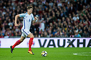 England (6) John Stones during the FIFA World Cup Qualifier match between England and Slovenia at Wembley Stadium, London, England on 5 October 2017. Photo by Sebastian Frej.