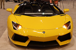 09 February 2017:  Lamborghini Aventador<br /> <br /> First staged in 1901, the Chicago Auto Show is the largest auto show in North America and has been held more times than any other auto exposition on the continent.  It has been  presented by the Chicago Automobile Trade Association (CATA) since 1935.  It is held at McCormick Place, Chicago Illinois<br /> #CAS17
