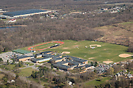 Montgomery, New York - An aerial view of Valley Central High School on April 20, 2016.