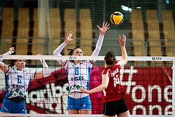 BRAČKO Brina of Slovenian national team and ZATKOVIĆ Eva of Slovenian national team during volleyball match between Slovenia and Austria in CEV Volleyball European Silver League 2021, on 6 of June, 2021 in Dvorana Ljudski Vrt, Maribor, Slovenia. Photo by Blaž Weindorfer / Sportida