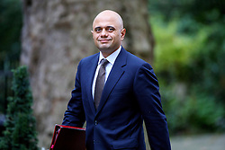 © Licensed to London News Pictures. 18/10/2016. London, UK. Communities and Local Government Secretary SAJID JAVID attends a cabinet meeting in Downing Street on Tuesday, 18 October 2016. Photo credit: Tolga Akmen/LNP