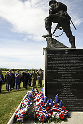 "Jun 4, 2017 - Sainte-Mere-Eglise, France - 'There are moments in a nation's history when its future course is decided by a chosen few who walked bravely into the valley of the shadow of death,' Army Gen. Curtis M. Scaparrotti said during a wreath-laying ceremony at the Iron Mike Memorial here yesterday. ""In such moments, young men and women pledge their lives so that their nation can live,"" said NATO's supreme allied commander for Europe and the commander of U.S. European Command. PICTURED: U.S., German and French dignitaries salute as 'Taps' is played during an ""Iron Mike"" wreath-laying ceremony in Sainte-Mere-Eglise, France, June 4, 2017. The ceremony commemorated the 73rd anniversary of the D-Day landings. (Credit Image: ? Tamika Dillard/Army/DOD via ZUMA Wire/ZUMAPRESS.com)"