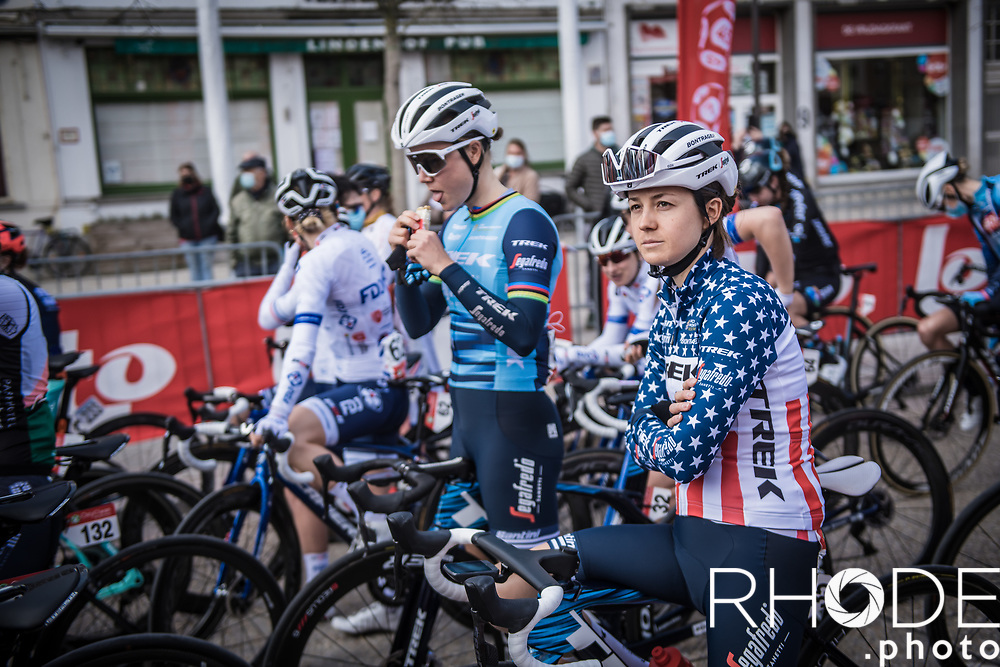 US National Champion Ruth Winder (USA/Trek-Segafredo)<br /> <br /> Oxyclean Classic Brugge-De Panne 2021 (WE/1.WWT) - Belgium<br /> 1 day race from Brugge to De Panne (159km)<br /> <br /> ©RhodePhoto