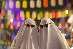 © Licensed to London News Pictures. 30/10/2020. London, UK. Revellers making the most of the pre-Halloween night out, many in fancy dress in China Town central London. Photo credit: Marcin Nowak/LNP