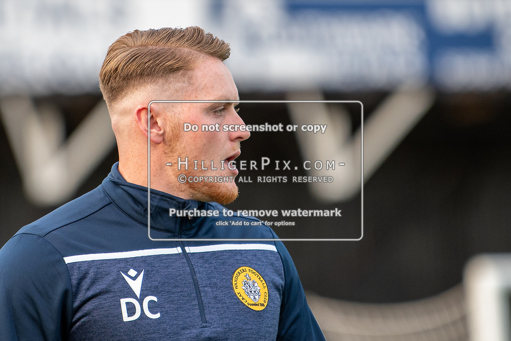BROMLEY, UK - SEPTEMBER 04: David Coyne, Cray Wanderers Assistant Manager, before the FA Youth Cup Preliminary Round match between Cray Wanderers FC and VCD Athletic at Hayes Lane on September 4, 2019 in Bromley, UK. <br /> (Photo: Jon Hilliger)