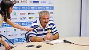 DESCRIZIONE : Campionato 2014/15 Serie A Beko Grissin Bon Reggio Emilia - Dinamo Banco di Sardegna Sassari Finale Playoff Gara7 Scudetto<br /> GIOCATORE : Romeo Sacchetti<br /> CATEGORIA : Conferenza Stampa Ritratto Allenatore Coach<br /> SQUADRA : Dinamo Banco di Sardegna Sassari<br /> EVENTO : LegaBasket Serie A Beko 2014/2015<br /> GARA : Grissin Bon Reggio Emilia - Dinamo Banco di Sardegna Sassari Finale Playoff Gara7 Scudetto<br /> DATA : 26/06/2015<br /> SPORT : Pallacanestro <br /> AUTORE : Agenzia Ciamillo-Castoria/L.Canu