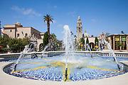 Water Fountain at The Plaza de Panama at Balboa Park