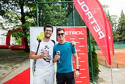 Miha Mlakar and Andraz Bedene at Petrol VIP tournament 2018, on May 24, 2018 in Sports park Tivoli, Ljubljana, Slovenia. Photo by Vid Ponikvar / Sportida