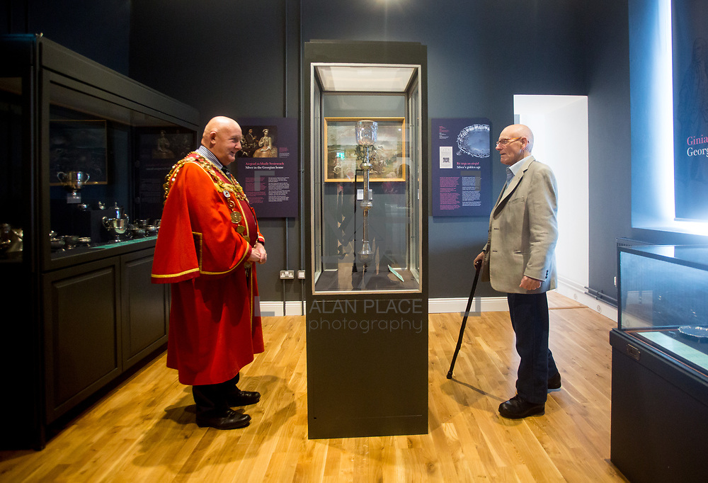 30.05. 2017.                                             <br /> Limerick Museum opened the doors to its new home at the former Franciscan Friary on Henry Street in the heart of Limerick city, dedicated to the memory of Jim Kemmy, the former Democratic Socialist Party and Labour Party TD for Limerick East and two-time Mayor of Limerick.<br /> <br /> Pictured at the opening of the new Museum were, Mayor of Limerick Cllr. Kieran O'Hanlon and Michael O'Donnell, Frank McCourt Museum.<br /> <br /> The museum will house one of the largest collections of any Irish museum. Picture: Alan Place
