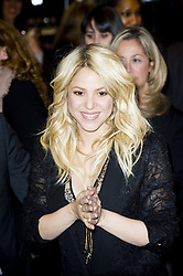 Singer Shakira arrives to attend the 'S By Shakira' Perfume Launch at Sephora Champs-Elysees, Paris, France, March 27, 2013. Photo by Imago / i-Images...UK ONLY.