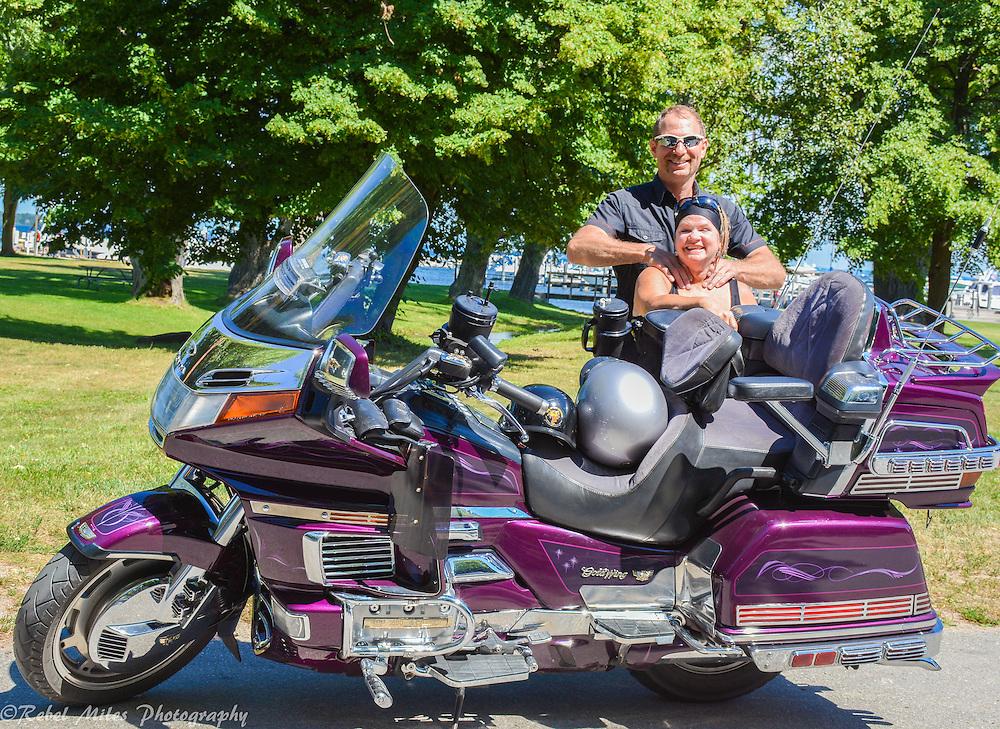 Northport-Harley-Davidson-Riders Taking A Break In Northport Michigan