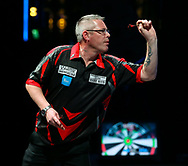 Simon Stainton during the BDO World Professional Championships at the O2 Arena, London, United Kingdom on 4 January 2020.