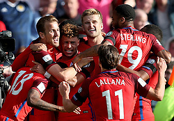 File photo dated 10-06-2017 of England's Harry Kane (second left) celebrates scoring his side's second goal of the game. Issue date: Tuesday June 1, 2021.
