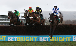 Frodon ridden by Bryony Frost (right) on their way to victory in the BetBright Trial Cotswold Chase during Festival Trials Day at Cheltenham Racecourse.