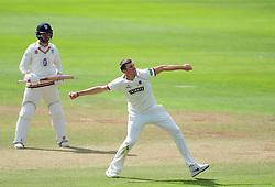 Craig Overton of Somerset celebrates the wicket of Scott Borthwick.  - Mandatory by-line: Alex Davidson/JMP - 05/08/2016 - CRICKET - The Cooper Associates County Ground - Taunton, United Kingdom - Somerset v Durham - County Championship - Day 2