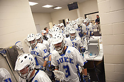 31 May 2010: Duke Blue Devils men's lacrosse before playing the Notre Dame Irish in the NCAA Lacrosse Championship at M&T Bank Stadium in Baltimore, MD.  The Blue Devils would go on that day to win the national title.