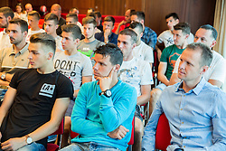 Players during press conference of NK Olimpija before new season 2015/16, on June 10, 2015 in Austria Trend Hotel, Ljubljana, Slovenia. Photo by Vid Ponikvar / Sportida