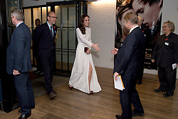 The Duchess of Cambridge, Patron of Action on Addiction, greets their Chief Executive Graham Beech (second right), as she arrives at Working Titles Office in London to view highlights of the Recovery Street Film Festival.
