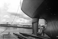 Kvaerner shipbuilding yard, on the River Clyde, Glasgow, Scotland, June 1993.