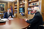 041620 King Felipe attends a meeting with Manuel Castells