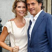 NLD/Amsterdam/20150620 - Huwelijk Kimberly Klaver en Bas Schothorst, Anouska Wink en partner Igor Tulevski