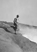 E.O. Hoppé Self-Portrait standing by the Pacific Ocean, San Diego, California, 1926