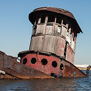 Steam Tug Chester, Boatyard April 9, 2005