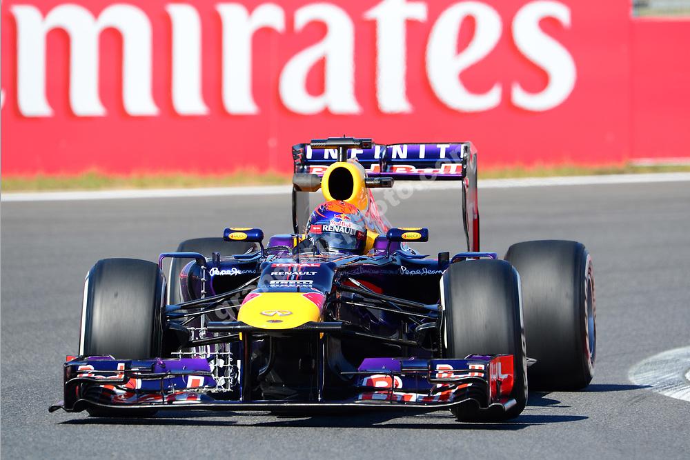 Sebastian Vettel (Red Bull-Renault) during practice for the 2013 Korean Grand Prix in Yeongam. Photo: Grand Prix Photo