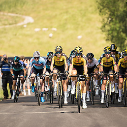 WIJSTER (NED) June 19: <br /> CYCLING <br /> Dutch Nationals Road WOMEN up and around the Col du VAM<br /> Start of the race with Team Jumbo-Visma