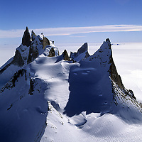 ANTARCTICA, Queen Maud Land.  The Troll's Castle in Filchner Mountains.