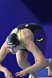 03-08-2018 ZWEMMEN: LEN EUROPEAN AQUATICS CHAMPIONSHIPS: GLASGOW<br /> Kinge Zandringa (NED), halve finale 100m vlinderslag dames<br /> <br /> Foto: Margarita Bouma